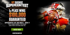 MyBookie NFL Supercontest 2019 – 1st Place Wins $100,000 Guaranteed