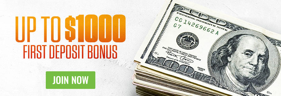 Up To $1,000 First Deposit Bonus